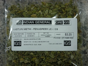 Fenugreek Leaves ( Kasthuri Methi)